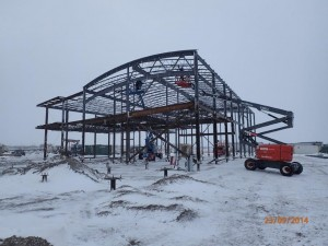 In the fall of 2014, construction of CHARS began, starting with the Field and Maintenance Building and triplexes. Image from http://www.science.gc.ca