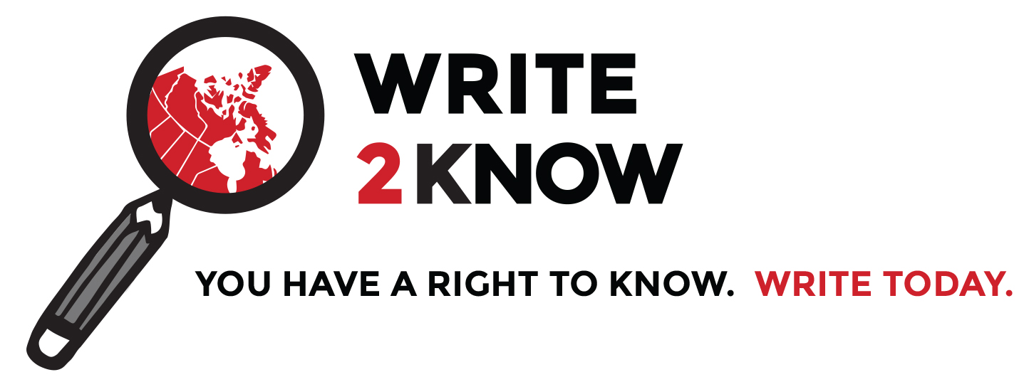You have a right to know. Write2Know today.